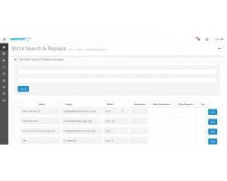 Bulk Search and Replace Products