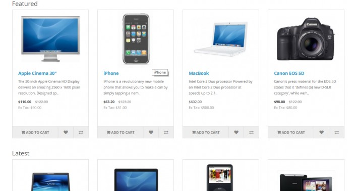 Display Random Featured,Special and Latest Products